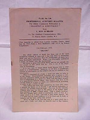 P.A.B. No. 130 Professional Auditor's Bulletin: Hubbard, L. Ron