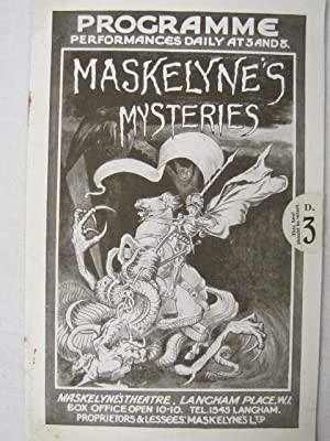 Maskelynes Mysterious Hullo Maskelyne All New Magic Show in 11 Swindles: Souvenier Theatre ...