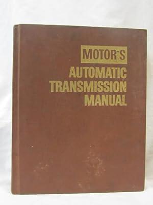 Motor's Automatoc Transmission Manual: Forier, Louis C.