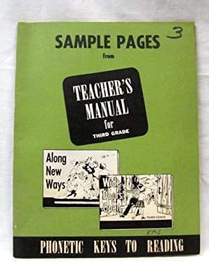 Sample Pages from Teacher's Manual for Third Grade Along New Ways and Wide Doors Open: Sloop, ...