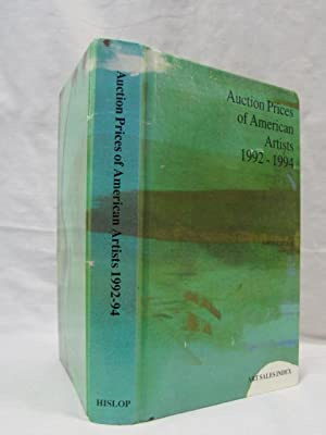 Auction Prices of American Artists 9th Biennial Edition: Hislop, Duncan