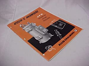 User's Manual : JFR Distribution Voltage Regulators: Allis-Chalmers Mfg. Company