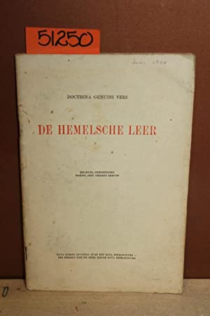 1940 De Hemelsche Leer; A Monthly Magazine Devoted to the Doctrine of Genuine Truth: Swedenborg, ...