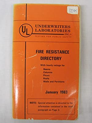 Fire Resistance Directory January 1983: Underwriters Laboratories Inc.