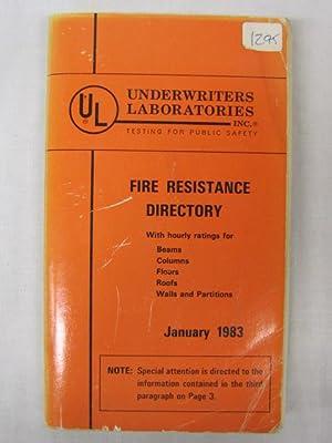 Fire Resistance Directory Abebooks