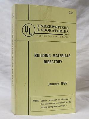 Fire Resistance Directory 1985: Underwriters Laboratories Inc.