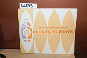 Teacher's Guide for I Learn to Write 6: Bell, Mary Elizabeth