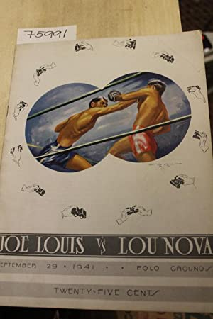 Joe Louis Vs Lou Nova September 29, 1941: Harry M. Stevens Inc