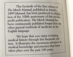 Merck's 1899 Manual of the Materia A ready reference pocket book for the practicing physician:...