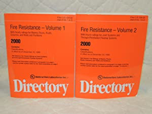 Fire Resistance Directory 2000 Volume 1-2: Underwriters Laboratories Inc