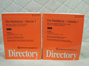 Fire Resistance Directory 1999 Volume 1-2: Underwriters Laboratories Inc