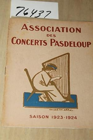 Association des Concerts Pasdeloup Saison 1923-24: Sandberg, M. S.