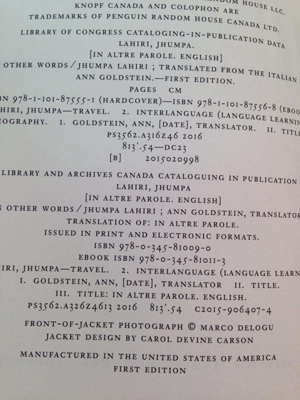 in other words jhumpa lahiri pdf