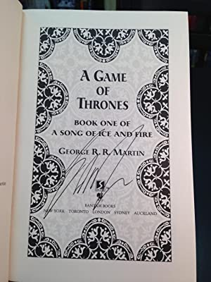 A Game of Thrones Book One of A Song of Ice and Fire: Martin, George R. R.