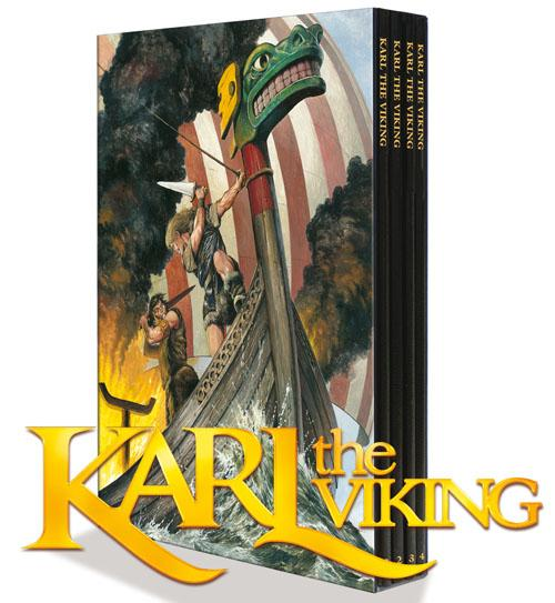Karl the Viking The Collection (deluxe 4 volume set) (Signed) (Limited Edition) Don Lawrence, introduced by Steve Holland; illustrated by Don Lawrenc