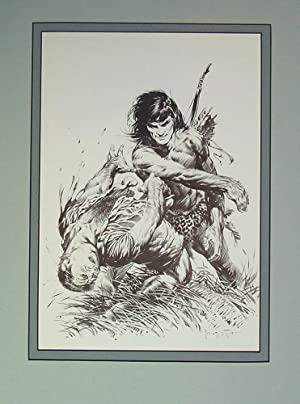 Edgar Rice Burroughs 6 Terrific Blow -: Frank Frazetta
