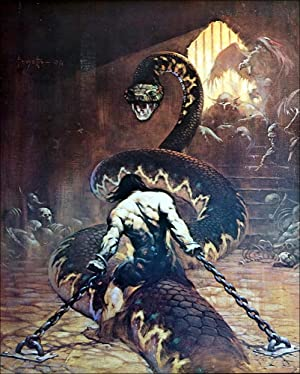 Chained - Print: Frank Frazetta