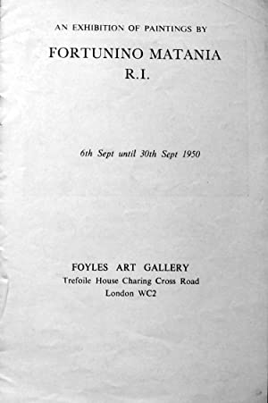 Foyles Art Gallery 1950 Catalogue of Matania: Various; illustrated by