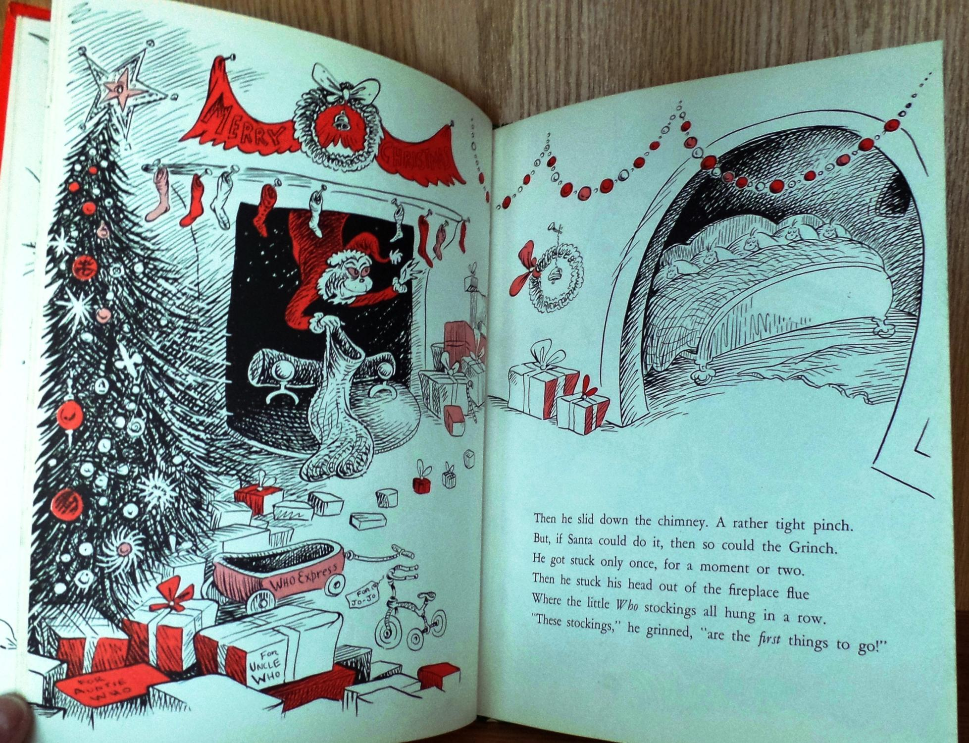 How The Grinch Stole Christmas Book Illustrations.How The Grinch Stole Christmas By Seuss Dr Random House