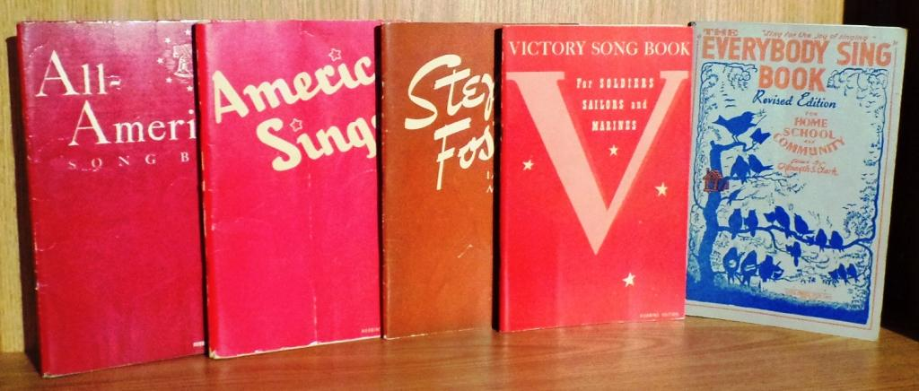 All-American Song Book; America Sings; Stephen Foster Immortal Melodies; Victory Song Book for ...