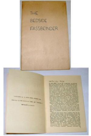 The Bedside Fassbeinder: Yerke, T. Bruce; Fassbeinder, Carlton J.