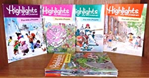 Highlights for Children, Jan-Dec 1988, 11 issues, Vol. 43, #441-451