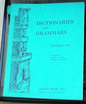 Dictionaries and Grammars, Catalogue 891, April 1964: Staff of Maggs Bros.