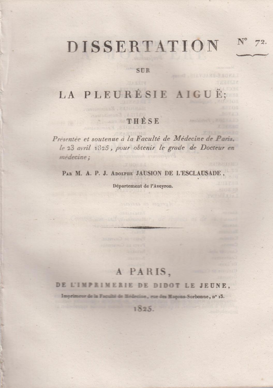 Dissertation sur la tentative punissable