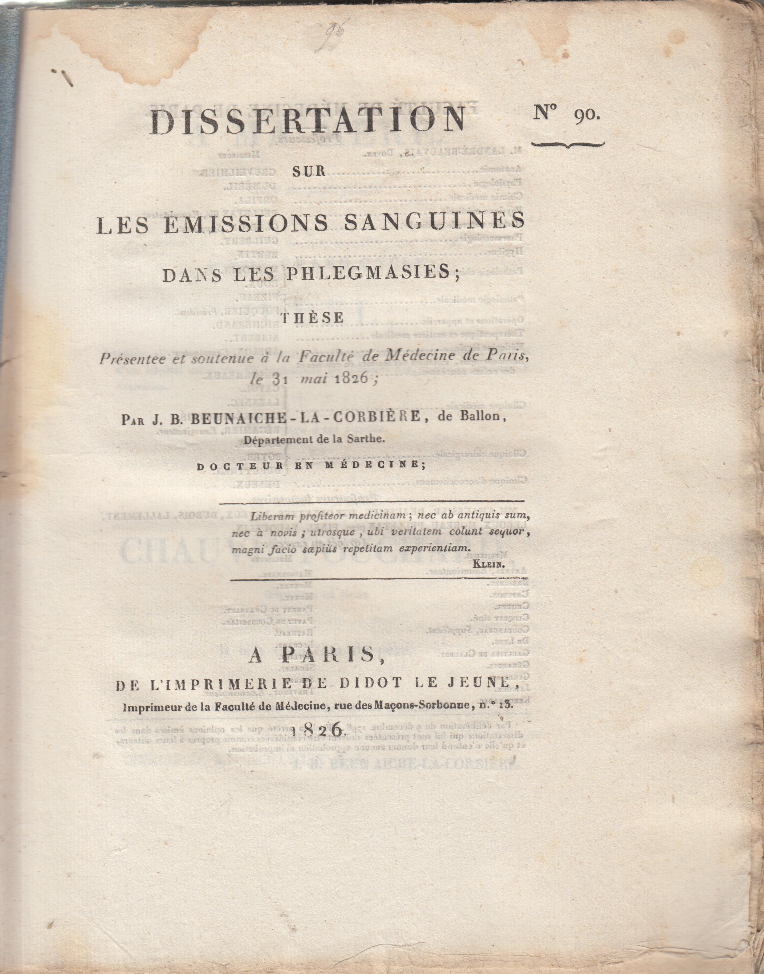 Dissertation corbiere
