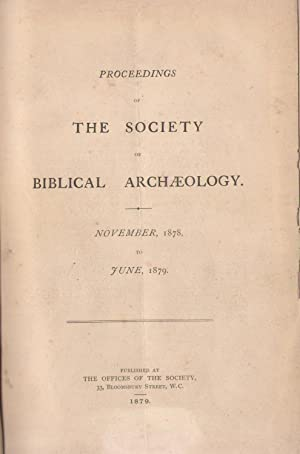 Proceedings of the Society of Biblical Archaeology : november 1878 to june 1879