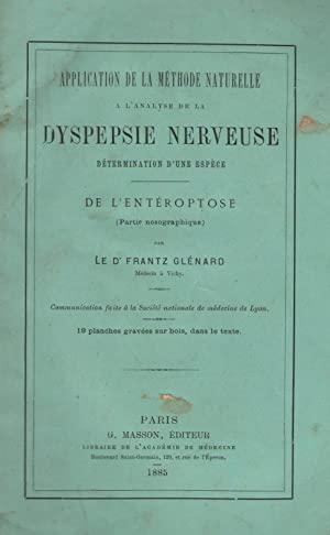 Application de la méthode naturelle à l'analyse: Dr Frantz Glénard