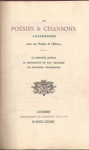 LES POESIES & CHANSONS AUXERROISES. Le discours: Georges Rouillé