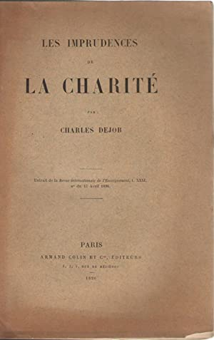Les imprudences de la charité COPY SIGNED