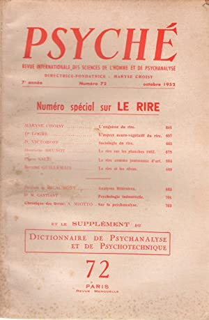 Psyché : revue internationale des sciences de: Maryse Choisy -