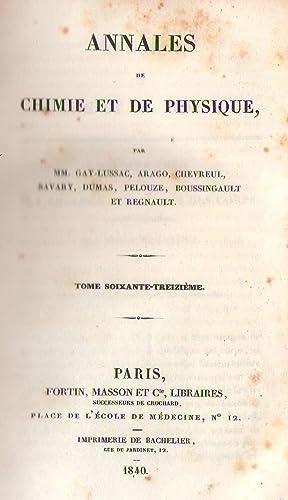 Annales de chimie et de physique, 1840: Gouy - H.