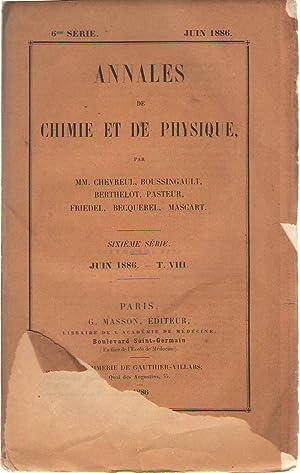 Annales de chimie et de physique, sixième: Gouy - H.
