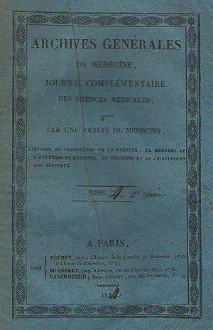 Archives Générales de Médecine - 2me série,: M. Joret -