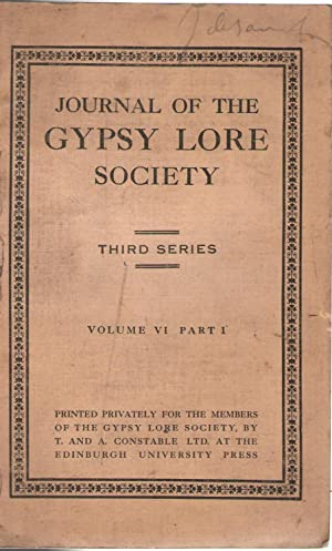 JOURNAL OF THE GYPSY LORE SOCIETY. THIRD SERIES, VOLUME VIPART 1
