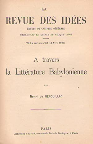 À travers la littérature babylonienne