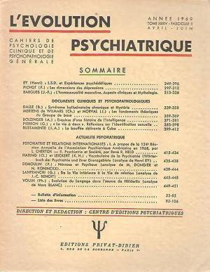 L'évolution Psychiatrique ; 1969 ; Tome Xxxiv: G Pierron -
