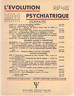L'Evolution Psychiatrique tome XXXIV (34) - fascicule: EY, Henri (ed.)