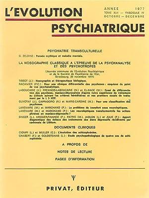 L'Evolution Psychiatrique tome XLII (42) - fascicule: J. TISSOT -