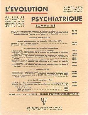 L'Evolution Psychiatrique tome () - fascicule (): Jean SUTTER -