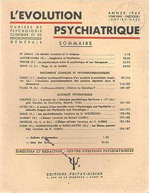 L'Evolution Psychiatrique tome XXXIII (33) - fascicule: Henri EY -