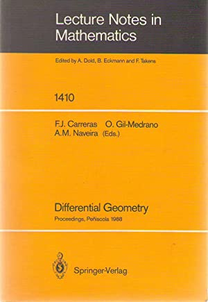 Differential geometry : proceedings of the 3rd international symposium held at Peñíscola, Spain, ...