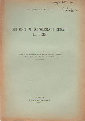 Sui costumi sepolcrali regali di Urim. COPY INSCRIBED