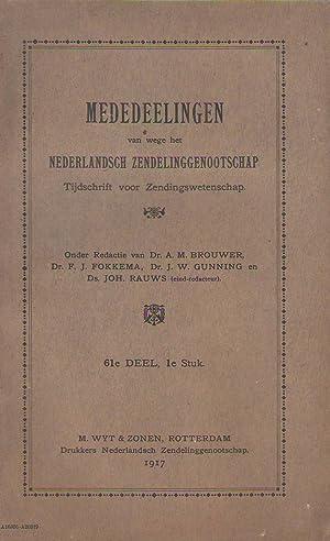 Mededeelingen van wege het Nederlandsch zendelinggenootschap. Tijdschrift: Daniel CROMMELIN -