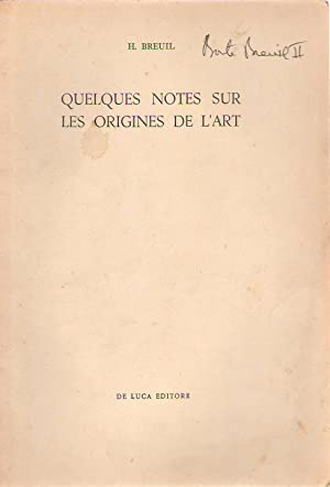 Quelques notes sur les origines de l'art.