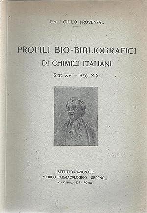 Profili bio-bibliografici di chimici italiani, sec. XV: Giulio Cesare Provenzal