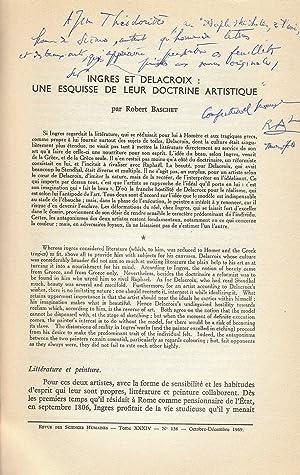 Ingres et Delacroix : une esquisse de: Robert Baschet